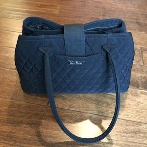 EUC Vera Bradley Black Quilted Triple Bag